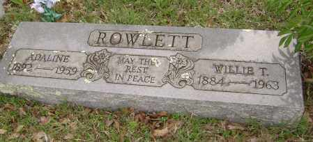 ROWLETT, WILLIE T. - Baxter County, Arkansas | WILLIE T. ROWLETT - Arkansas Gravestone Photos