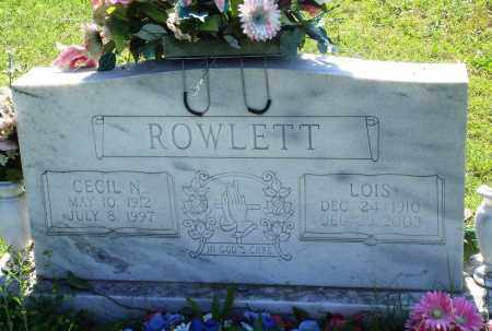 ROWLETT, LOIS - Baxter County, Arkansas | LOIS ROWLETT - Arkansas Gravestone Photos