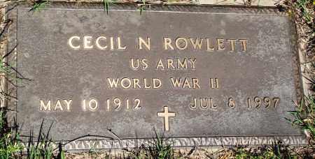 ROWLETT (VETERAN WWII), CECIL N - Baxter County, Arkansas | CECIL N ROWLETT (VETERAN WWII) - Arkansas Gravestone Photos