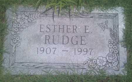 RUDGE, ESTHER E. - Baxter County, Arkansas | ESTHER E. RUDGE - Arkansas Gravestone Photos