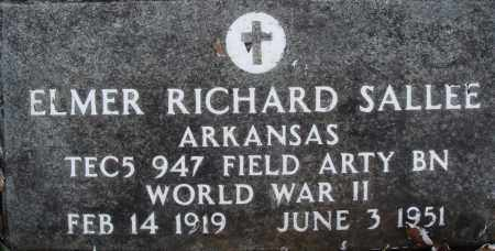 SALLEE (VETERAN WWII), ELMER RICHARD - Baxter County, Arkansas | ELMER RICHARD SALLEE (VETERAN WWII) - Arkansas Gravestone Photos