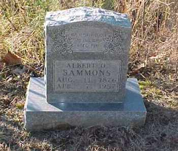 SAMMONS, ALBERT O. - Baxter County, Arkansas | ALBERT O. SAMMONS - Arkansas Gravestone Photos