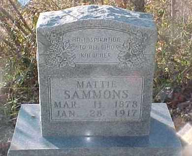SAMMONS, MATTIE - Baxter County, Arkansas | MATTIE SAMMONS - Arkansas Gravestone Photos