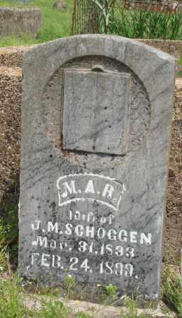 SCHOGGEN, M A R - Baxter County, Arkansas | M A R SCHOGGEN - Arkansas Gravestone Photos
