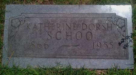 DORSH SCHOO, KATHERINE - Baxter County, Arkansas | KATHERINE DORSH SCHOO - Arkansas Gravestone Photos