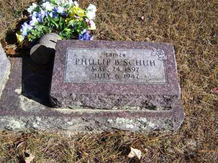 SCHUH (VETERAN WWI), PHILLIP B - Baxter County, Arkansas | PHILLIP B SCHUH (VETERAN WWI) - Arkansas Gravestone Photos