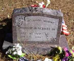 SCHUH, JR. (VETERAN), PHILLIP B. - Baxter County, Arkansas | PHILLIP B. SCHUH, JR. (VETERAN) - Arkansas Gravestone Photos
