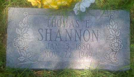 SHANNON, THOMAS E. - Baxter County, Arkansas | THOMAS E. SHANNON - Arkansas Gravestone Photos