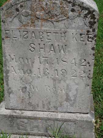 KEE SHAW, ELIZABETH - Baxter County, Arkansas | ELIZABETH KEE SHAW - Arkansas Gravestone Photos