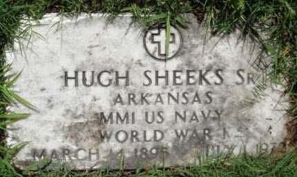 SHEEKS, SR (VETERAN WWI), HUGH - Baxter County, Arkansas | HUGH SHEEKS, SR (VETERAN WWI) - Arkansas Gravestone Photos