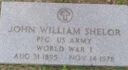 SHELOR (VETERAN WWI), JOHN WILLIAM - Baxter County, Arkansas | JOHN WILLIAM SHELOR (VETERAN WWI) - Arkansas Gravestone Photos