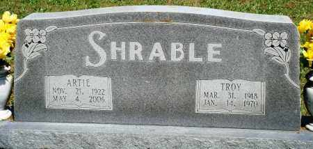 SHRABLE, ARTIE - Baxter County, Arkansas | ARTIE SHRABLE - Arkansas Gravestone Photos