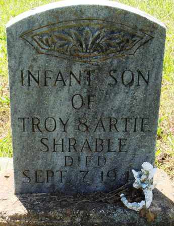 SHRABLE, INFANT SON - Baxter County, Arkansas | INFANT SON SHRABLE - Arkansas Gravestone Photos