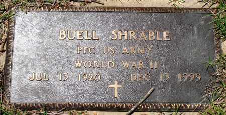 SHRABLE (VETERAN WWII), BUELL - Baxter County, Arkansas | BUELL SHRABLE (VETERAN WWII) - Arkansas Gravestone Photos