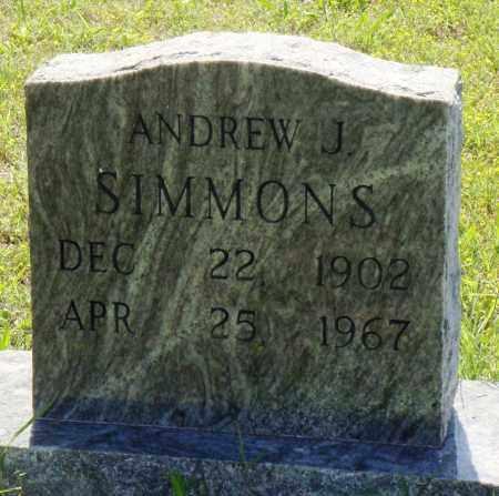 SIMMONS, ANDREW J - Baxter County, Arkansas | ANDREW J SIMMONS - Arkansas Gravestone Photos