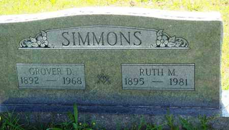 SIMMONS, GROVER D - Baxter County, Arkansas | GROVER D SIMMONS - Arkansas Gravestone Photos
