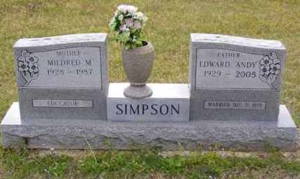 "SIMPSON, EDWARD ""ANDY"" - Baxter County, Arkansas 