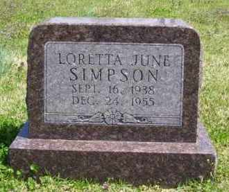 SIMPSON, LORETTA JUNE - Baxter County, Arkansas | LORETTA JUNE SIMPSON - Arkansas Gravestone Photos