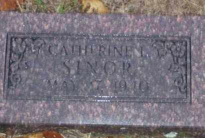 SINOR, CATHERINE L. - Baxter County, Arkansas | CATHERINE L. SINOR - Arkansas Gravestone Photos