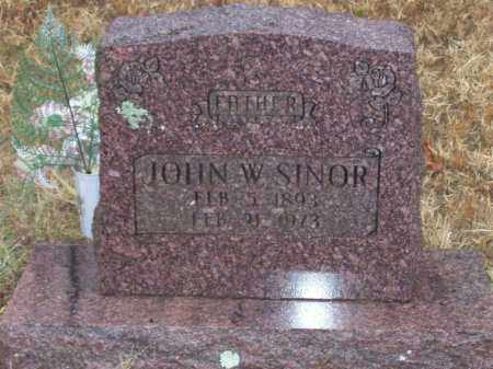 SINOR, JOHN W. - Baxter County, Arkansas | JOHN W. SINOR - Arkansas Gravestone Photos