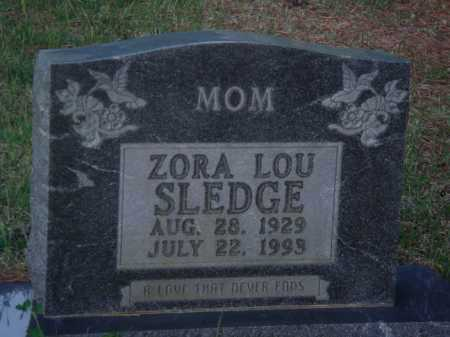 ADAMS SLEDGE, ZORA LOU - Baxter County, Arkansas | ZORA LOU ADAMS SLEDGE - Arkansas Gravestone Photos