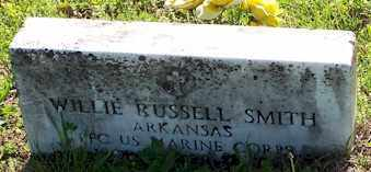 SMITH  (VETERAN), WILLIE RUSSELL - Baxter County, Arkansas | WILLIE RUSSELL SMITH  (VETERAN) - Arkansas Gravestone Photos