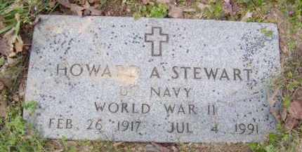 STEWART (VETERAN WWII), HOWARD A - Baxter County, Arkansas | HOWARD A STEWART (VETERAN WWII) - Arkansas Gravestone Photos