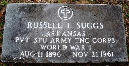 SUGGS (VETERAN WWI), RUSSELL L - Baxter County, Arkansas | RUSSELL L SUGGS (VETERAN WWI) - Arkansas Gravestone Photos