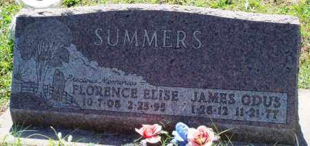 SUMMERS, FLORENCE ELISE - Baxter County, Arkansas | FLORENCE ELISE SUMMERS - Arkansas Gravestone Photos