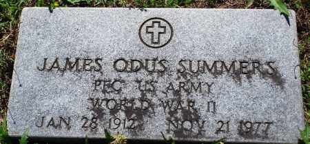 SUMMERS (VETERAN WWII), JAMES ODUS - Baxter County, Arkansas | JAMES ODUS SUMMERS (VETERAN WWII) - Arkansas Gravestone Photos