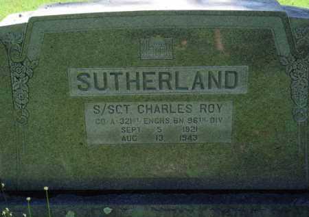 SUTHERLAND  (VETERAN), CHARLES ROY - Baxter County, Arkansas | CHARLES ROY SUTHERLAND  (VETERAN) - Arkansas Gravestone Photos