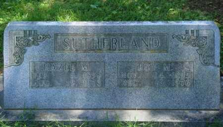 SUTHERLAND, ROY M. - Baxter County, Arkansas | ROY M. SUTHERLAND - Arkansas Gravestone Photos