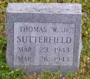 SUTTERFIELD, JR, THOMAS W. - Baxter County, Arkansas | THOMAS W. SUTTERFIELD, JR - Arkansas Gravestone Photos