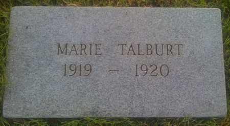 TALBURT, MARIE - Baxter County, Arkansas | MARIE TALBURT - Arkansas Gravestone Photos