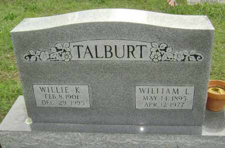 TALBURT, WILLIE K. - Baxter County, Arkansas | WILLIE K. TALBURT - Arkansas Gravestone Photos