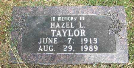 TAYLOR, HAZEL L. - Baxter County, Arkansas | HAZEL L. TAYLOR - Arkansas Gravestone Photos