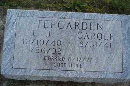 TEEGARDEN, T. J. - Baxter County, Arkansas | T. J. TEEGARDEN - Arkansas Gravestone Photos