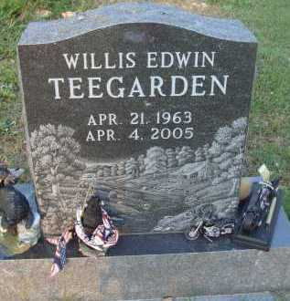 TEEGARDEN, WILLIS EDWIN - Baxter County, Arkansas | WILLIS EDWIN TEEGARDEN - Arkansas Gravestone Photos