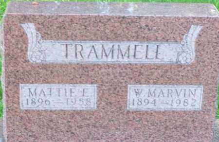 TRAMMELL, W MARVIN - Baxter County, Arkansas | W MARVIN TRAMMELL - Arkansas Gravestone Photos