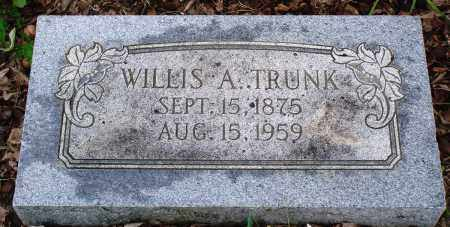 TRUNK, WILLIS A - Baxter County, Arkansas | WILLIS A TRUNK - Arkansas Gravestone Photos