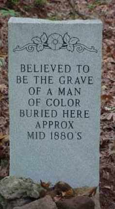 UNKNOWN, BELIEVED TO BE A MAN OF COLOR - Baxter County, Arkansas | BELIEVED TO BE A MAN OF COLOR UNKNOWN - Arkansas Gravestone Photos