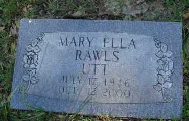 RAWLS UTT, MARY ELLA - Baxter County, Arkansas | MARY ELLA RAWLS UTT - Arkansas Gravestone Photos