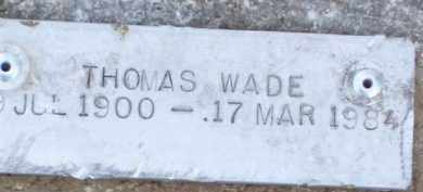 WADE, THOMAS - Baxter County, Arkansas | THOMAS WADE - Arkansas Gravestone Photos