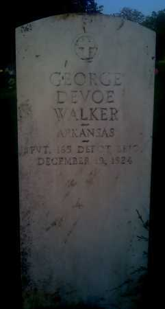 WALKER (VETERAN), GEORGE DEVOE - Baxter County, Arkansas | GEORGE DEVOE WALKER (VETERAN) - Arkansas Gravestone Photos