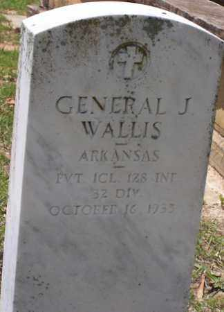 WALLIS  (VETERAN), GENERAL JACKSON - Baxter County, Arkansas | GENERAL JACKSON WALLIS  (VETERAN) - Arkansas Gravestone Photos
