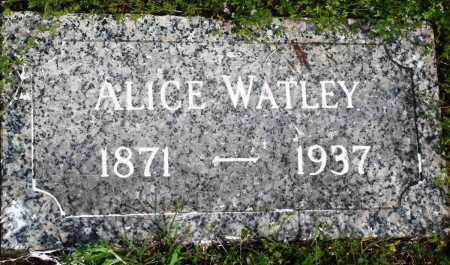 WATLEY, ALICE - Baxter County, Arkansas | ALICE WATLEY - Arkansas Gravestone Photos