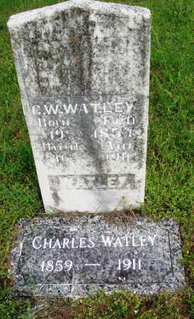 WATLEY, CHARLES W - Baxter County, Arkansas | CHARLES W WATLEY - Arkansas Gravestone Photos