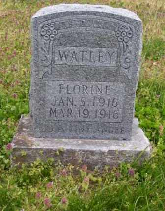 WATLEY, FLORINE - Baxter County, Arkansas | FLORINE WATLEY - Arkansas Gravestone Photos