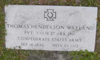 WAYLAND (VETERAN CSA), THOMAS HENDERSON - Baxter County, Arkansas | THOMAS HENDERSON WAYLAND (VETERAN CSA) - Arkansas Gravestone Photos