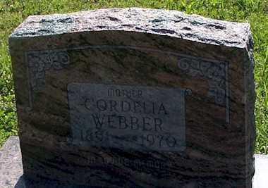 WEBBER, CORDELIA - Baxter County, Arkansas | CORDELIA WEBBER - Arkansas Gravestone Photos